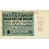 100 MILLIONEN MARK 1923  Ro.106f  I-
