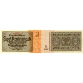2 RENTENMARK 1937  Ro.167a  I-  selten