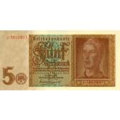 5 REICHSMARK 1942  Ro.179a  I-