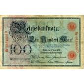 100 MARK 1907  Ro.30  III