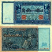 100 MARK 1910  Ro.43a  II+