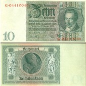 10 REICHSMARK 1929  Ro.173c  I-