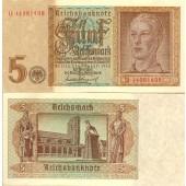 5 REICHSMARK 1942  Ro.179b  I-II