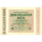 10 MILLIARDEN MARK 1923  Ro.114c  I-  Fehldruck  selten