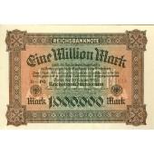 1 MILLION MARK 1923  Ro.85a  I-