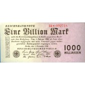 1 BILLION MARK 1923  Ro.126b  I-  selten!