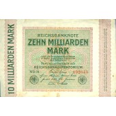 10 MILLIARDEN MARK 1923  Ro.114c  III