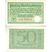50 PFENNIG o.J. (1939)  Ro.550a  II+