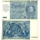 100 REICHSMARK Provisorium 1945  Ro.182a  II+  selten!