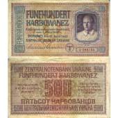 Deutsche Besatzung UKRAINE 500 Karbowanez 1942  Ro.599  III-  selten