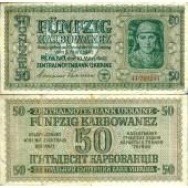 Deutsche Besatzung UKRAINE 50 Karbowanez 1942  Ro.596  IV+