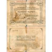 DEUTSCH OSTAFRIKA 20 Rupien 1915  Ro.905  IV-  selten!