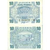 Alliierte Besatzung RHEINLAND PFALZ 10 Pfennig 1947 Ro.212  II