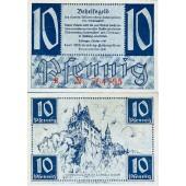 Alliierte Besatzung WÜRTTEMBERG HOHENZOLLERN 10 Pfennig 1947 Ro.215a  I-
