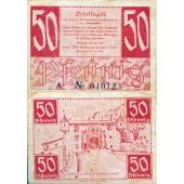 Alliierte Besatzung WÜRTTEMBERG HOHENZOLLERN 50 Pfennig 1947 Ro.216a  III  selten!