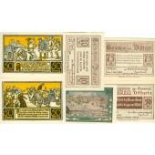 Lot: Notgeld Serienscheine 6x DITFURT (Sachsen)  I  [1921]
