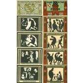 Lot: Notgeld Serienscheine 10x SACHSEN  I  [1921]