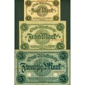 Lot: Notgeld Serienscheine 3x ASCHAFFENBURG  [1918-1922]