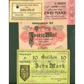 Lot: Notgeld Serienscheine 4x gemischt  II  [1918-1919]