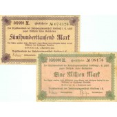 Lot: Notgeld Inflation 2x STOLLBERG  II  [1923]
