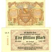 Lot: Notgeld Inflation 2x Badische Bank  II-  [1923]