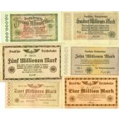 Lot: Notgeld Inflation 6x Deutsche Reichsbahn  II  [1923]