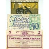 Lot: Notgeld Inflation 3x FREITAL  III  [1923]