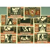 Lot: Notgeld Serienscheine 11x NAUMBURG  I-  [1920]