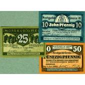 Lot: Notgeld Serienscheine 3x GREIZ  I  [1921]