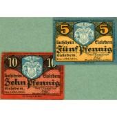 Lot: Notgeld Serienscheine 2x EISLEBEN  I-II  [1920]