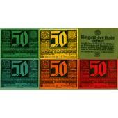 Lot: Notgeld Serienscheine 6x ERFURT  I-  [1921]