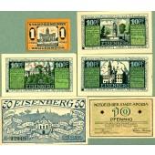 Lot: Notgeld Serienscheine 6x THÜRINGEN  I-  [1920-1921]