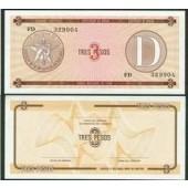 KUBA / CUBA: 3 Peso D  I