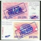 Bosnien Herzegowina: 100000 Dinar 1993  (KM 34a)  I