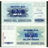 Bosnien Herzegowina: 1 Million Dinar 1993  (KM 35b)  I