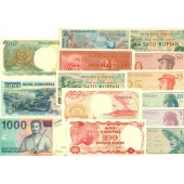 Lot: INDONESIEN  14x Banknote  I  [1956-2000]