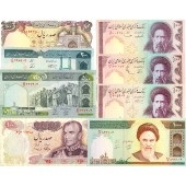Lot: IRAN  8x Banknote  I  [1971-1992]