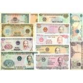 Lot: VIETNAM  12x Banknote  I-  [1976-1991]