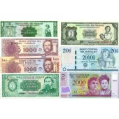Lot: PARAGUAY  7x Banknote  I  [1952-2008]