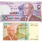 Lot: MAROKKO / MOROCCO  2x Banknote  I-II  [1987-1996]