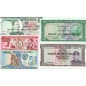 Lot: MOSAMBIK / MOCAMBIQUE  5x Banknote  I  [1961-1991]