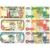 Lot: ZAMBIA / SAMBIA  6x Banknote  I  [1980-2003]