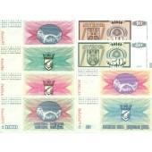 Lot: BOSNIEN HERZEGOWINA + SRPSKA  8x Banknote  1992  I