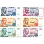 Lot: BOSNIEN / REPUBLIKA SRPSKA  6x Banknote  1993  I