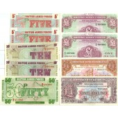 Lot: GROSSBRITANNIEN / GREAT BRITAIN  9x Militär Banknote  I  [1948-1972]