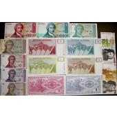 Lot: JUGOSLAWIEN / YUGOSLAVIA Mix  15x Banknote  I  [1990-1993]