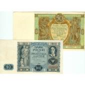 Lot: POLEN / POLAND  2x Banknote  II-III  [1929-1936]