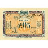 FRANKREICH  0,05 Francs o.D.  Ro.855a  1923  III+