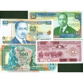 Lot: AFRIKA / AFRICA Mix  4x Banknote  I  [1983-1997]