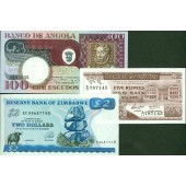 Lot: AFRIKA / AFRICA Mix  3x Banknote  I  [1973-1994]